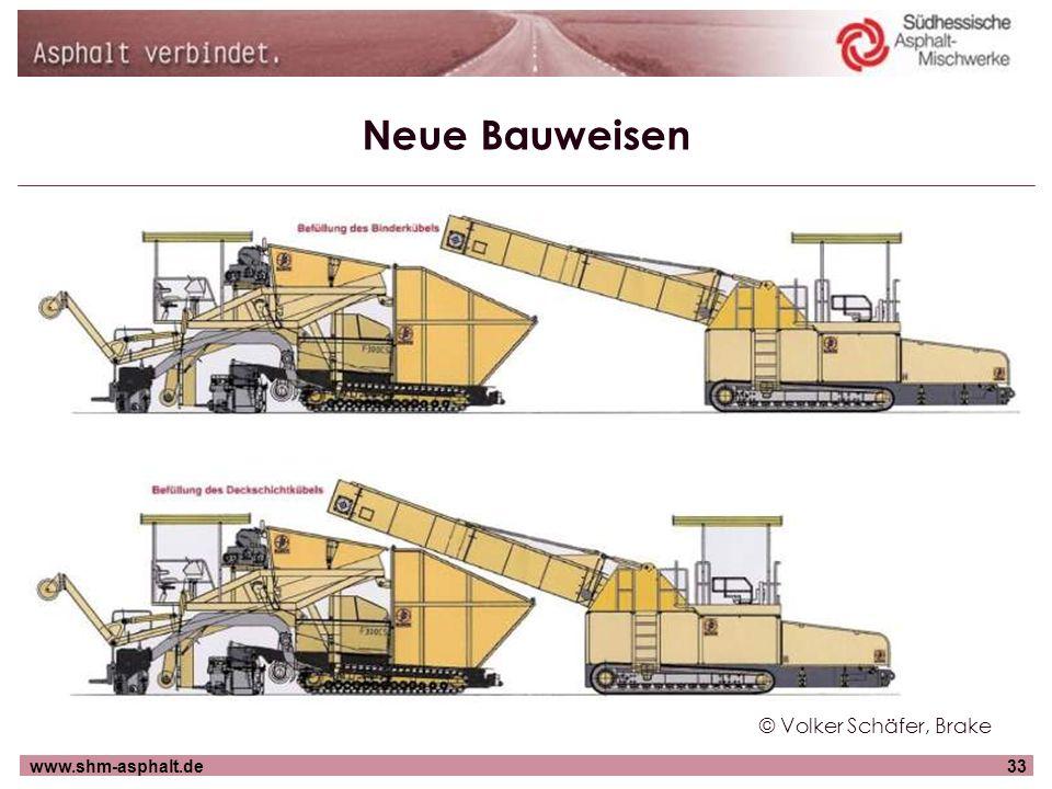 www.shm-asphalt.de33 Neue Bauweisen © Volker Schäfer, Brake