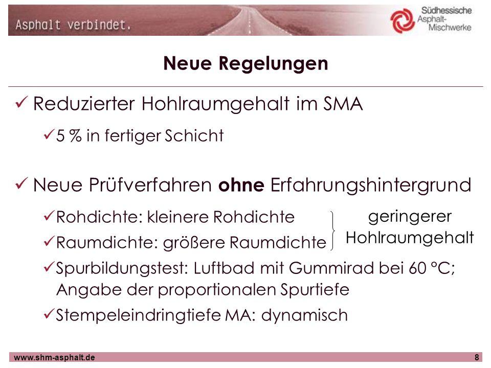 www.shm-asphalt.de29 Neue Bauweisen Kompaktasphalt geeignet für hochbelastete Strecken Einbau und Verdichtung von Asphaltbinderschicht und SMA in einem Arbeitsgang lt.