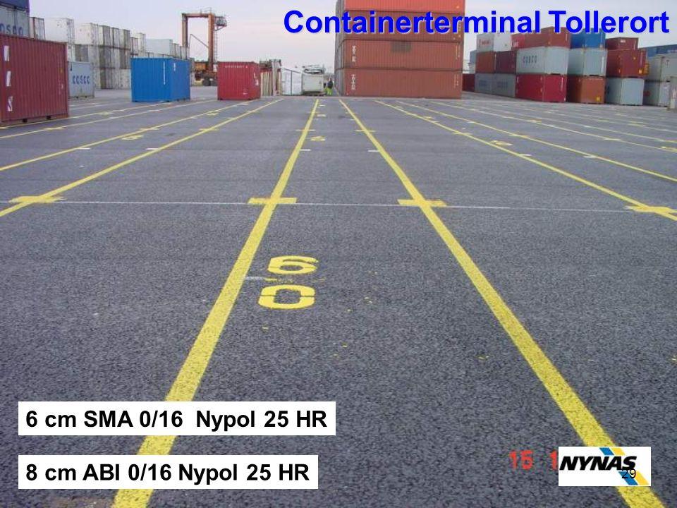21.Januar 200929 Containerterminal Tollerort 8 cm ABI 0/16 Nypol 25 HR 6 cm SMA 0/16 Nypol 25 HR