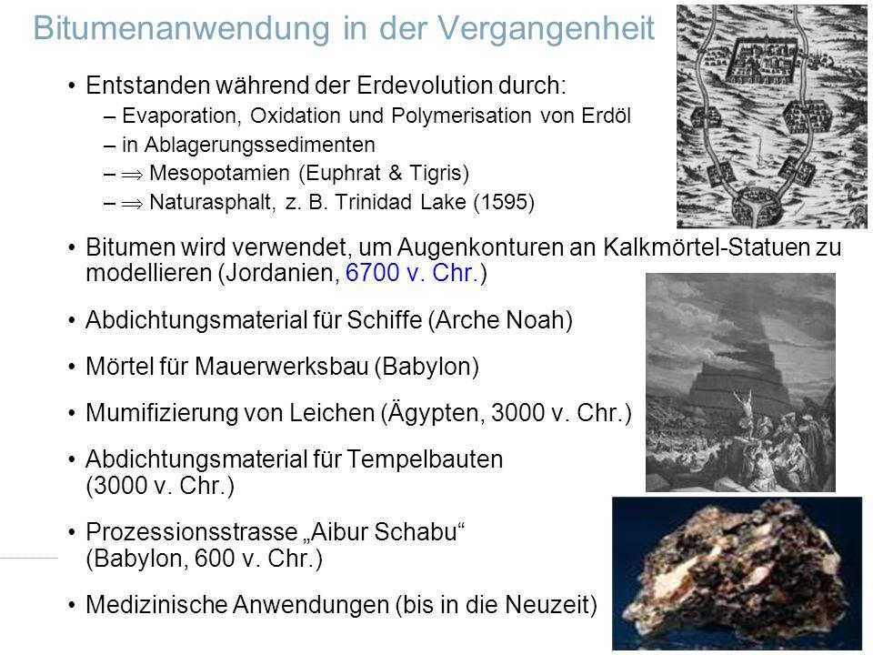 Dr.-Ing. Ingo Nösler, Dipl.-Ing Derk Goos - Nynas Bitumen VSVI Seminar - Friedberg/Hessen 321.Januar 2009 Bitumenanwendung in der Vergangenheit Entsta