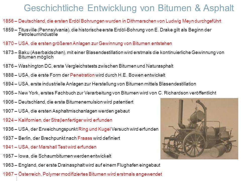 Dr.-Ing. Ingo Nösler, Dipl.-Ing Derk Goos - Nynas Bitumen VSVI Seminar - Friedberg/Hessen 521.Januar 2009 1856 – Deutschland, die ersten Erdöl Bohrung