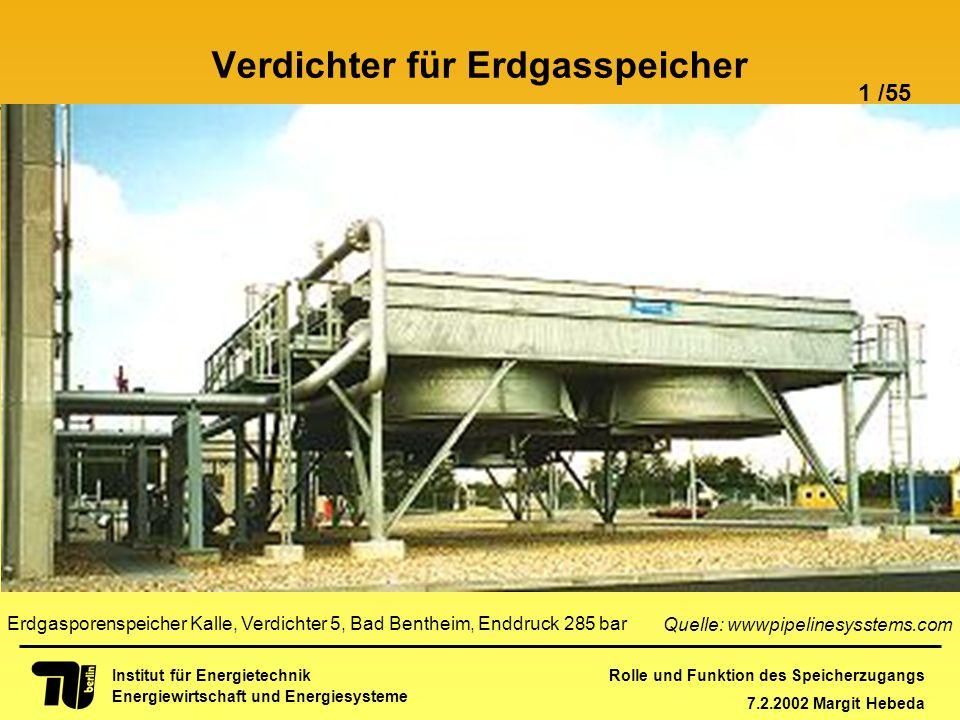 Rolle und Funktion des Speicherzugangs 7.2.2002 Margit Hebeda 1 /55 Institut für Energietechnik Energiewirtschaft und Energiesysteme Einleitung Libera