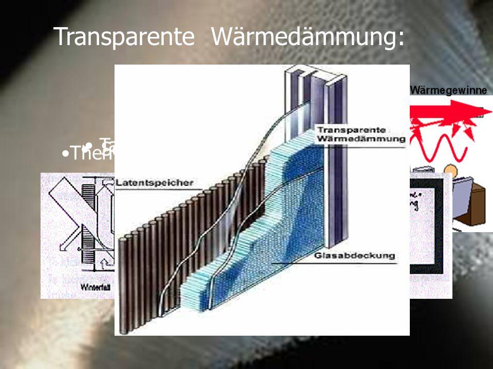 Transparente Wärmedämmung: Tageslichtkonzept Solarwandsystem Thermisch abgekoppeltes System