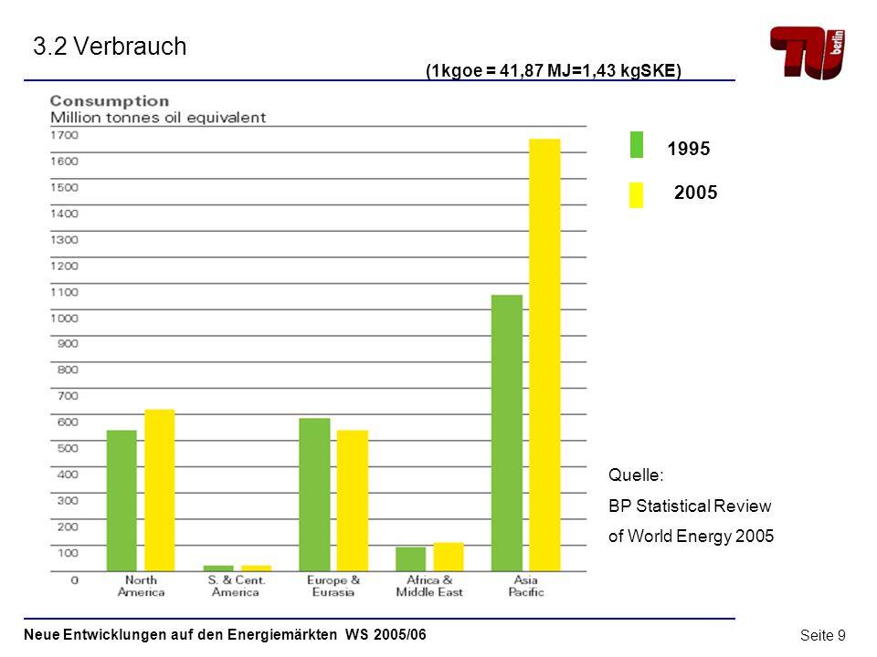 Neue Entwicklungen auf den Energiemärkten WS 2005/06 Seite 8 3.1 Produktion