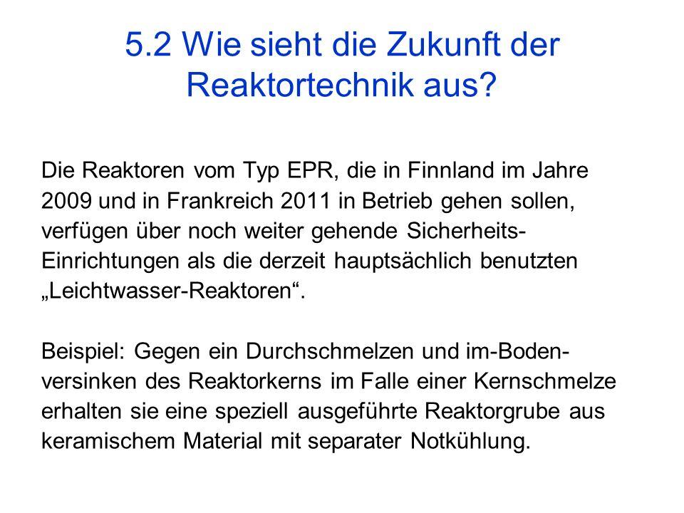 Die Reaktoren vom Typ EPR, die in Finnland im Jahre 2009 und in Frankreich 2011 in Betrieb gehen sollen, verfügen über noch weiter gehende Sicherheits