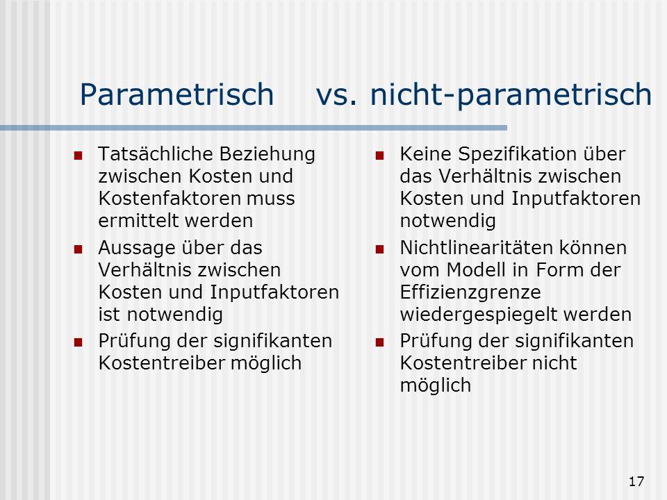 17 Parametrisch vs.