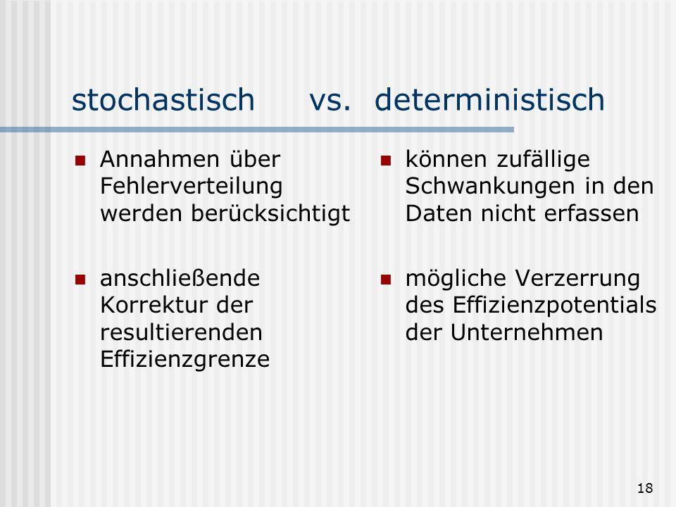 18 stochastisch vs.