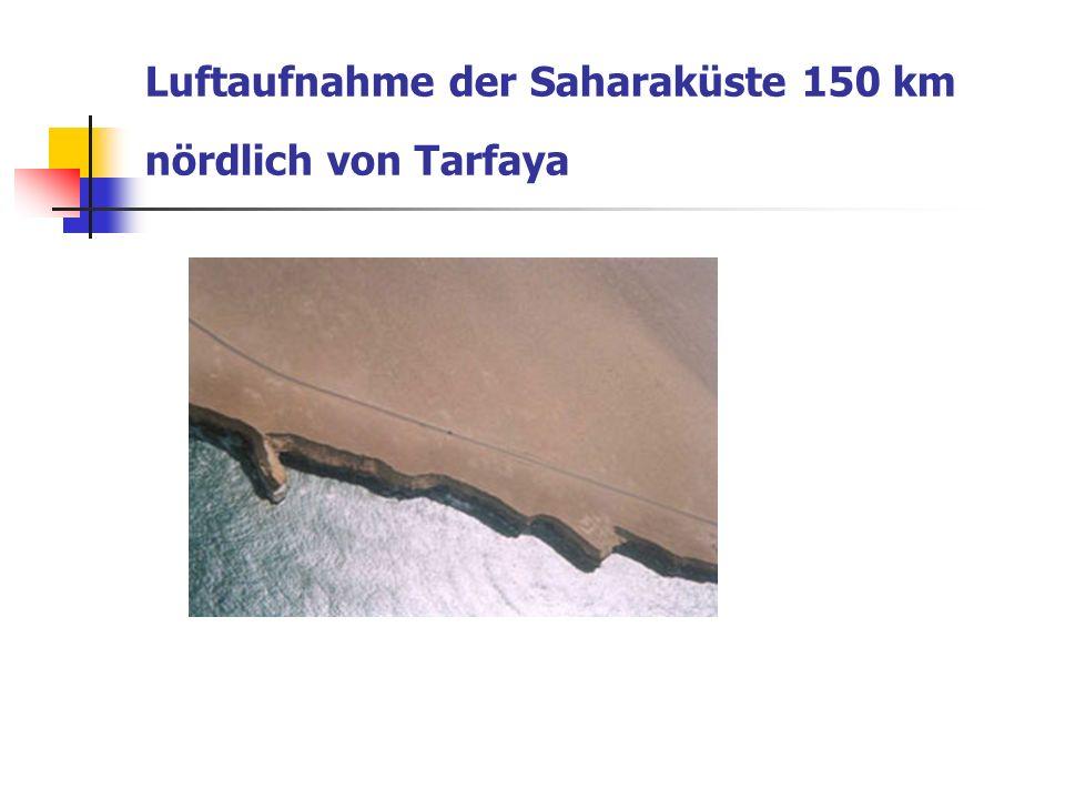 Luftaufnahme der Saharaküste 150 km nördlich von Tarfaya