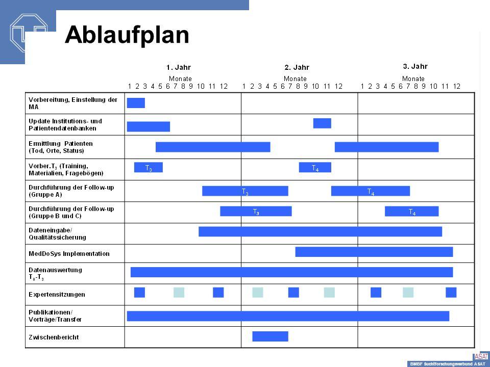 BMBF Suchtforschungsverbund ASAT einsetzen Ablaufplan