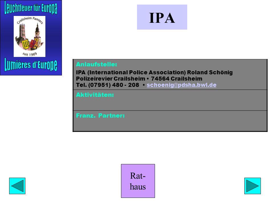 Rat- haus Praktika Anlaufstelle: Stabsstelle des Oberbürgermeisters Marktplatz 1 74564 Crailsheim Franz Kasimir Tel. (07951) 403 292 Fax (07951) 403 1