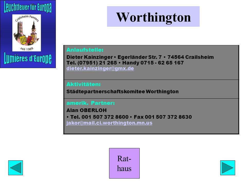 Rat- haus Jurbarkas Anlaufstelle: Gottlob Lober Am Wiesenbach 12 74564 Crailsheim Tel. (07951) 51 40 Friedrich Ludwig Steinbrunnenstraße 3 74532 Ilsho