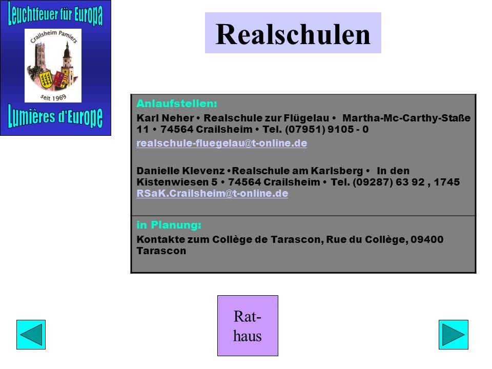 Rat- haus Historischer Verein Anlaufstelle: Hans Gräser Am Dorfbrunnen 5 74594 Kreßberg-Mariäkappel Tel. (07957) 82 10 Aktivitäten: Vorträge zur Stadt