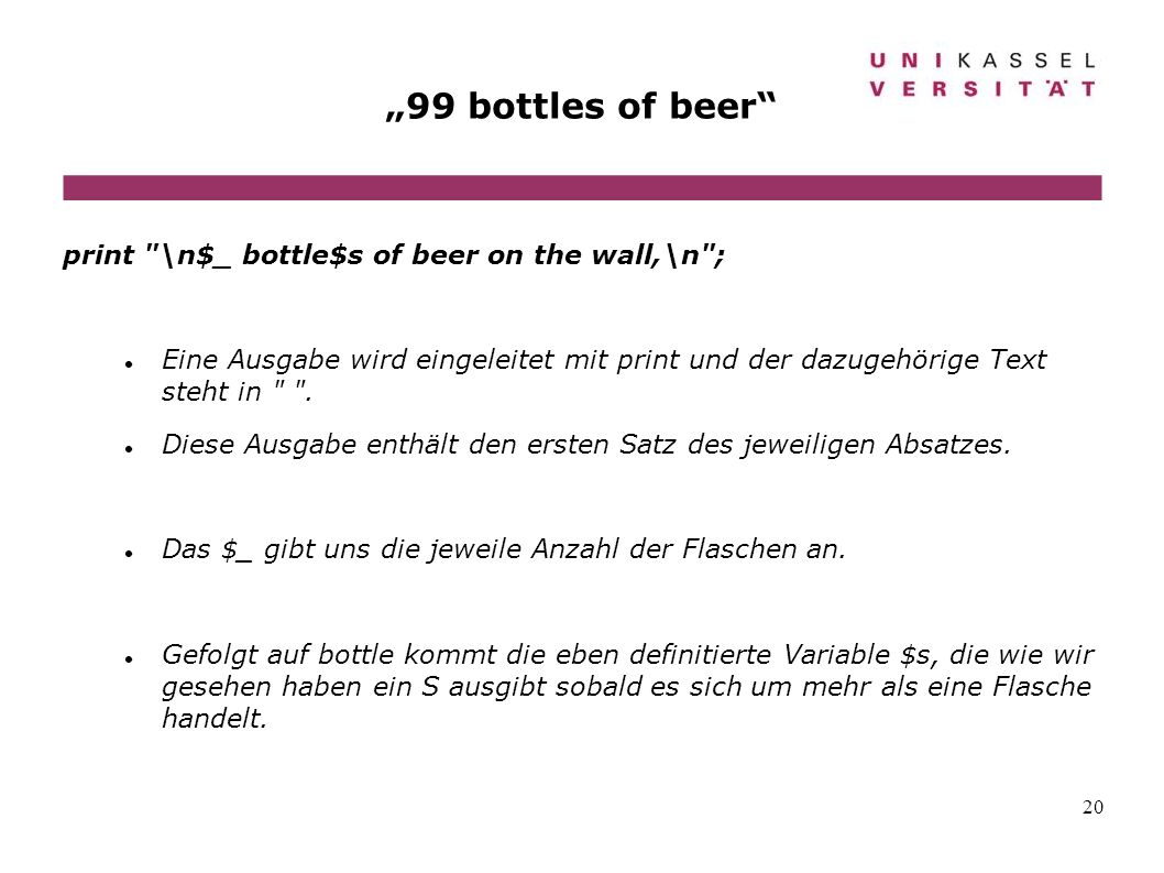 20 99 bottles of beer print