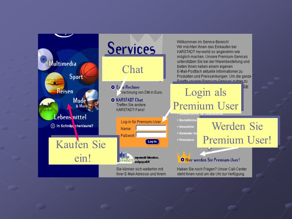 Chat Login als Premium User Login als Premium User Werden Sie Premium User.