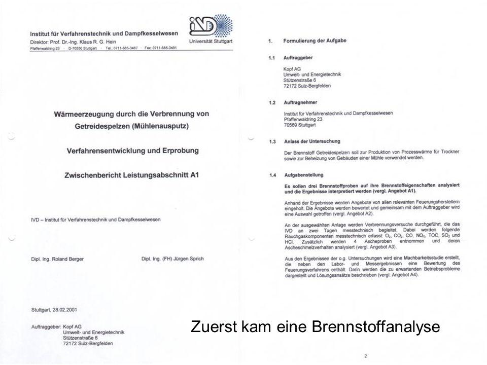 Staubkonzentrationen Messungen des IVD der Universität Stuttgart (Auftrag des MLR B-W)