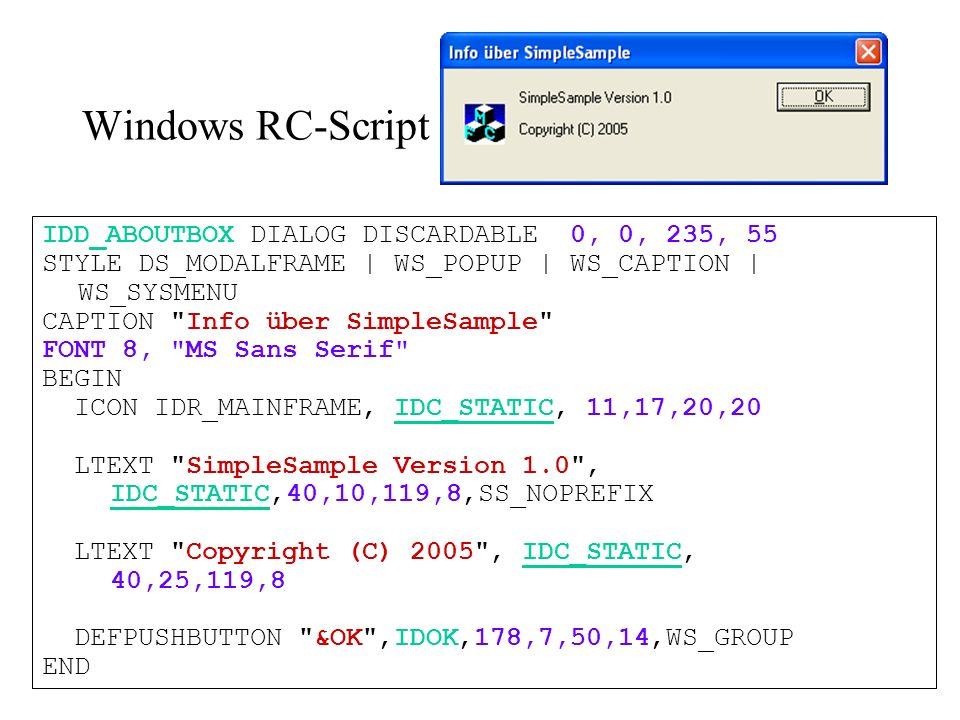 String Tables STRINGTABLE DISCARDABLE BEGIN AFX_IDS_SCRESTORE Stellt das Fenster in seiner normalen Größe wieder her. AFX_IDS_SCTASKLIST Aktiviert die Task-Liste. END STRINGTABLE DISCARDABLE BEGIN AFX_IDS_PREVIEW_CLOSE Beendet die Seitenansicht.\nSeitenansicht beenden END