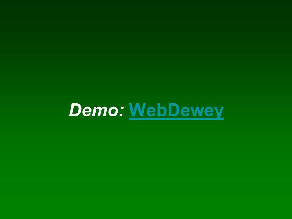 Demo: WebDeweyWebDewey
