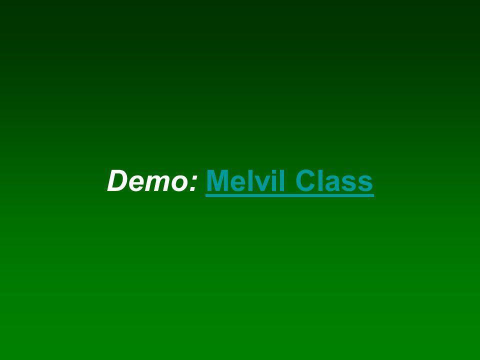 Demo: Melvil ClassMelvil Class