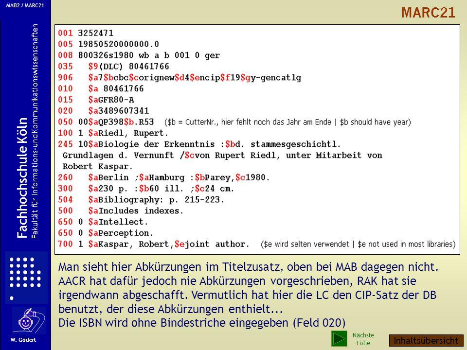 2 aktualisierte Beispiele MAB2 und MARC 21 1. Beispiel: Normale Ein-Verfasser-Schrift Quelle: http://www.biblio.tu-bs.de/allegro/formate/examp/ MAB ha