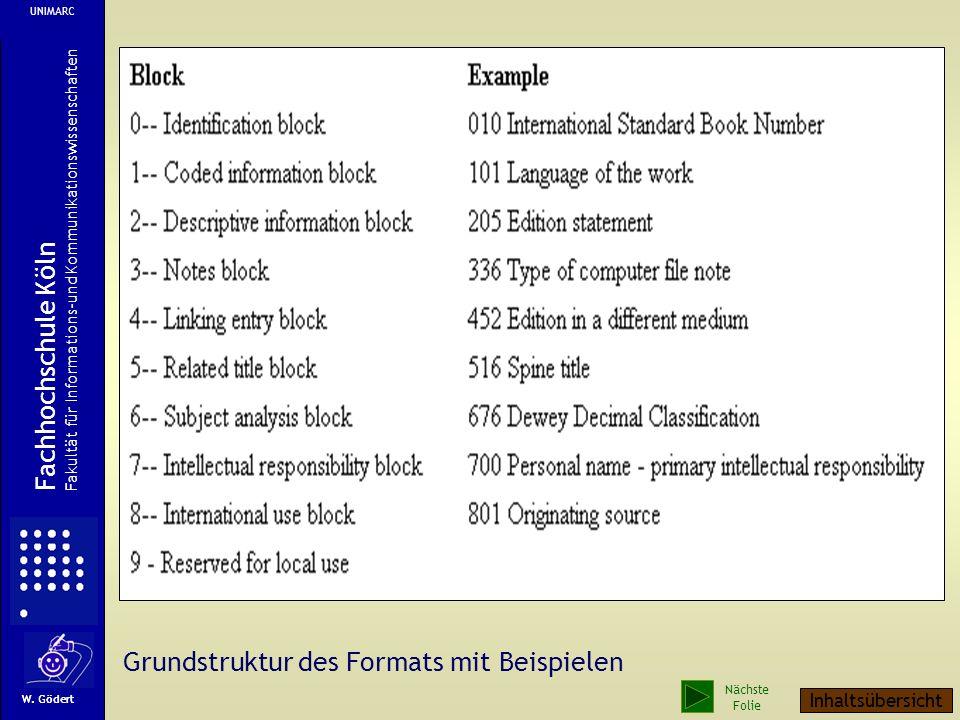 Mit UNIMARC können die zur Zeit in Bibliotheken gängigen Materialien katalogisiert werden, also auch Karten, Musikalien, Tonträger, Graphika, AV-Mater