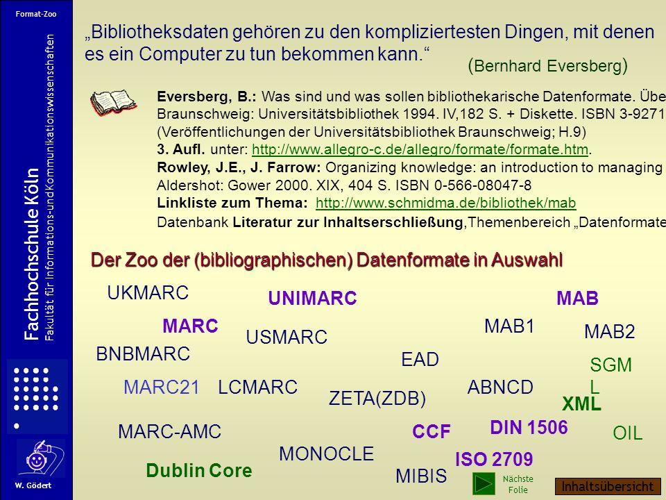 Die WDR-Startseite Dublin Core Element Set Fachhochschule Köln Fakultät für Informations-und Kommunikationswissenschaften W. Gödert WDR Nächste Folie