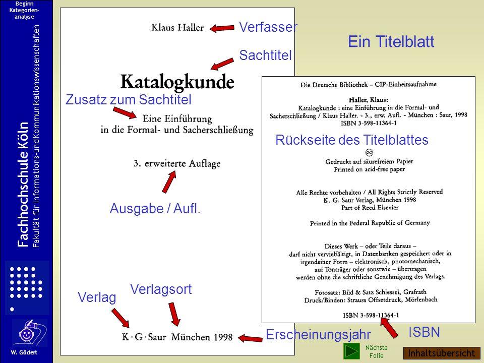 ISBN Ein Titelblatt Verfasser Sachtitel Zusatz zum Sachtitel Ausgabe / Aufl.