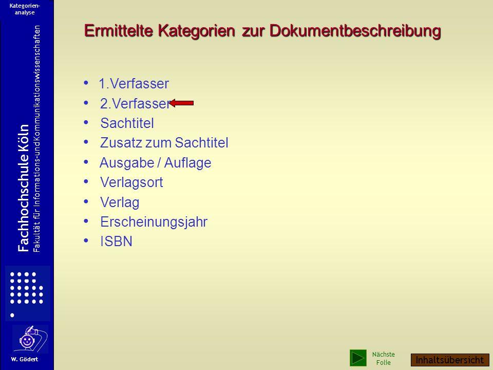 Ein Titelblatt Rückseite des Titelblattes 1. Verfasser 2. Verfasser Sachtitel Ausgabe / Aufl. Verlag Verlagsort ISBN Erscheinungsjahr Fachhochschule K