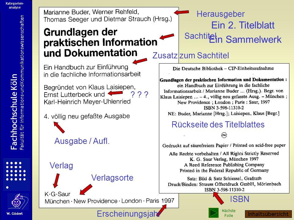 Ermittelte Kategorien zur Dokumentbeschreibung 1.Verfasser 2.Verfasser Sachtitel Zusatz zum Sachtitel Ausgabe / Auflage Verlagsort Verlag Erscheinungs