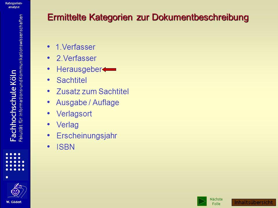 Sachtitel Ausgabe / Aufl. Zusatz zum Sachtitel Verlag Verlagsorte Erscheinungsjahr Herausgeber ? ? ? Rückseite des Titelblattes ISBN Ein 2. Titelblatt