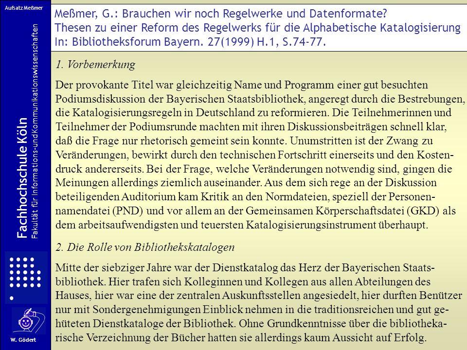 Meßmer, G.: Brauchen wir noch Regelwerke und Datenformate.
