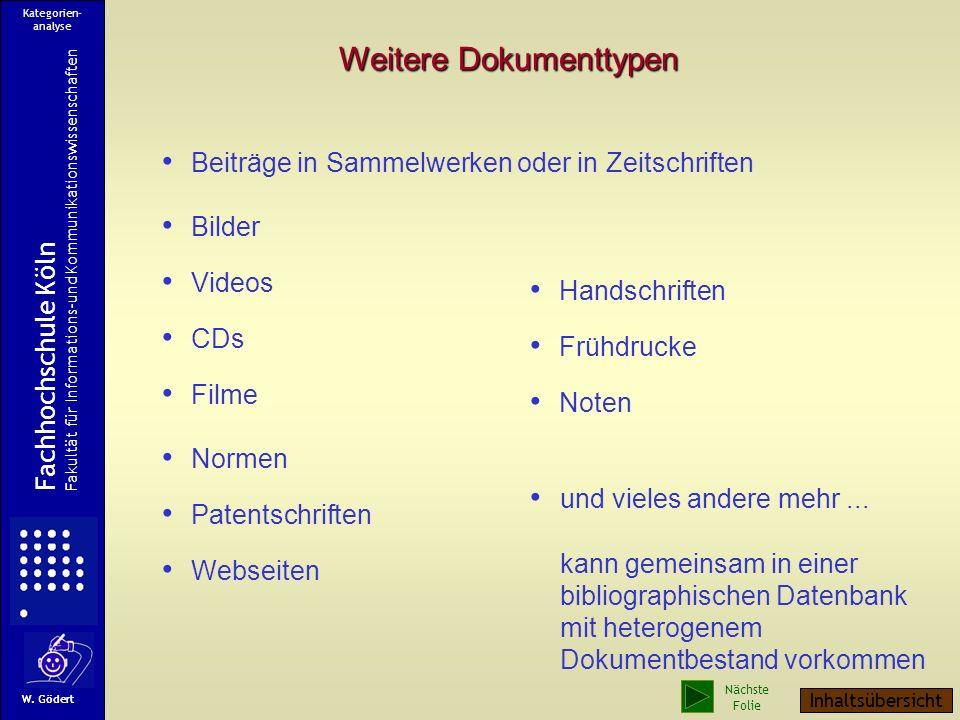 Eine Web-Seite im Quelltext Metadaten Fachhochschule Köln Fakultät für Informations-und Kommunikationswissenschaften W. Gödert Kategorien- analyse Näc