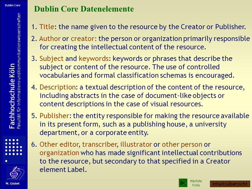 Metadaten Metadaten beschreiben wie Daten in Datenformaten Eigenschaften von Objekten (Büchern, Aufsätzen, anderen Medien, Web-Seiten). Bibliographisc