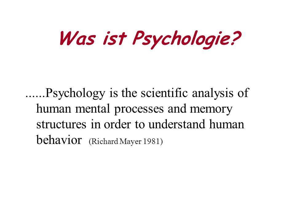 Psychodynamische Perspektive Starke innere und - größtenteils aus der Biographie der ersten Lebensjahre erklärbare - Kräfte motivieren und treiben das Verhalten an.