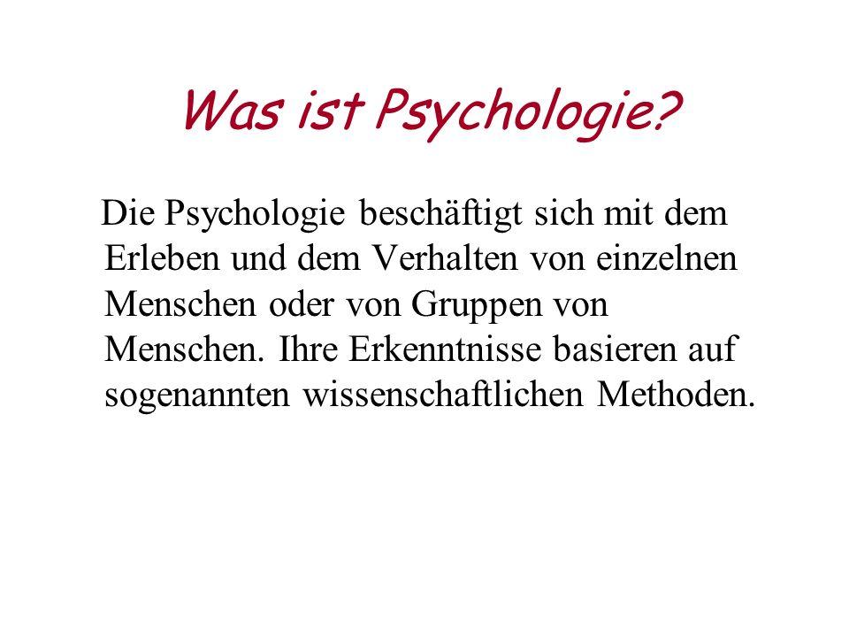 Was ist Psychologie.