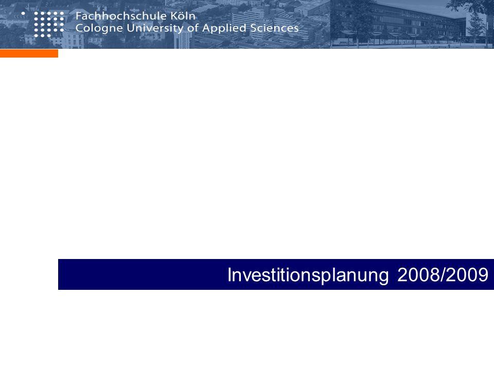 Investitionsplanung 2007 / Stand Mittelabfluss 12.9.2007