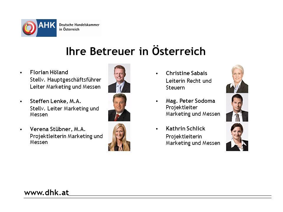www.dhk.at Gewerberecht in Österreich Def.: Gewerbe ist grundsätzlich jede wirtschaftliche Tätigkeit, die auf eigene Rechnung, eigene Verantwortung und auf Dauer mit der Absicht zur Gewinnerzielung betrieben wird.