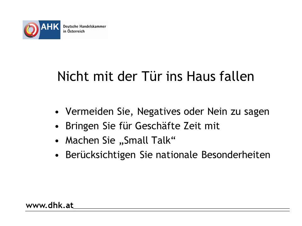 www.dhk.at Grundlagen: Rechtliche und Steuerliche Rahmenbedingungen in Österreich