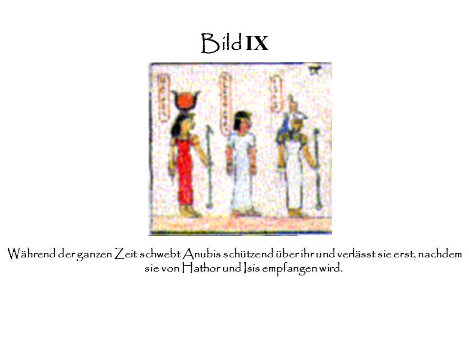 Bild IIX Wohlwollend erlaubt Osiris ihr in das Totenreich zu gehen.