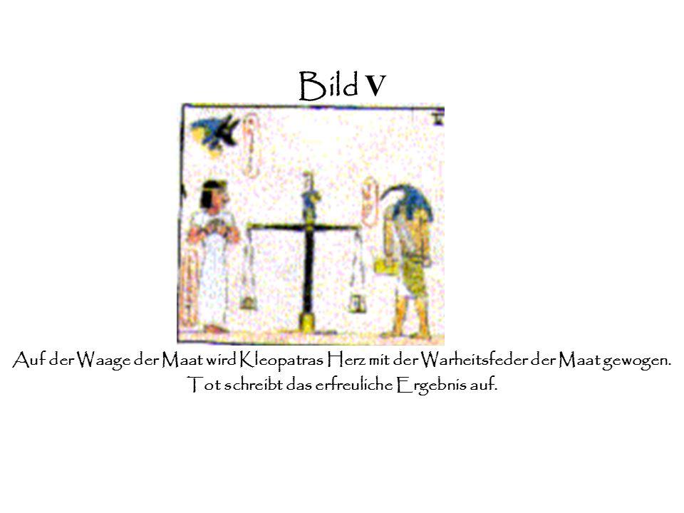 Bild IV Erfolgreich kann sie die Götter überzeugen und wird von Anubis zu Thot gebracht.