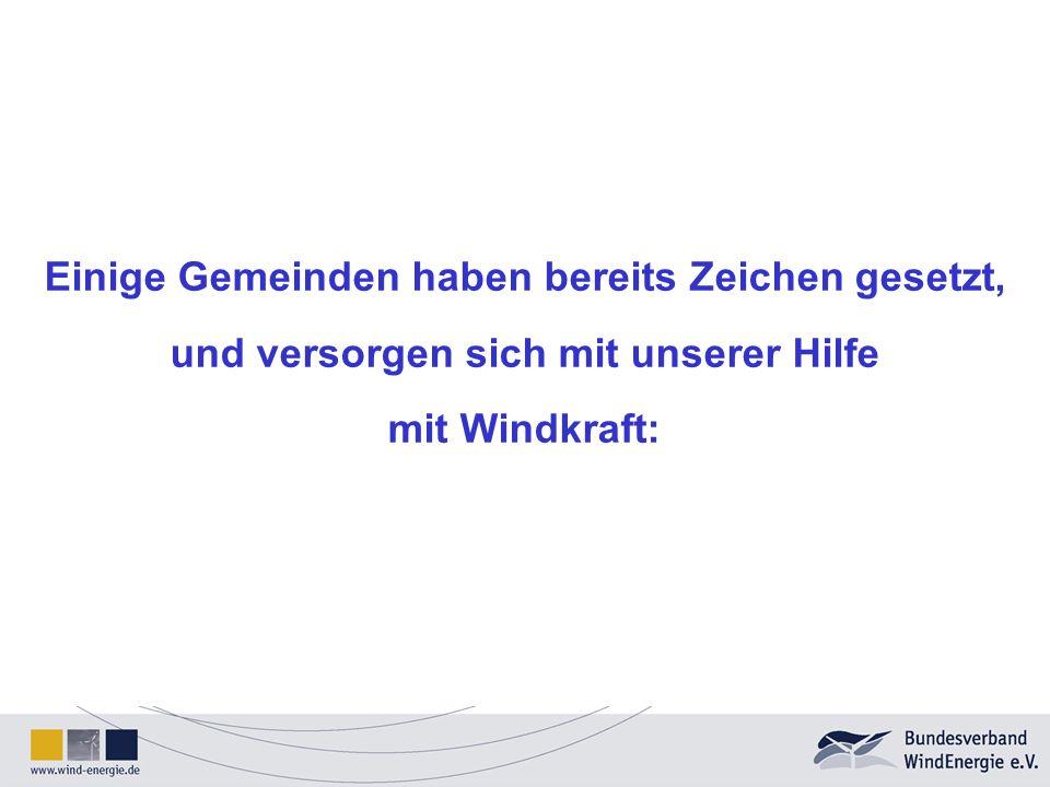 Windhöffigkeit (ausreichende Windgeschwindigkeit) Die Anlagen müssen vom Wind frei anströmbar sein.