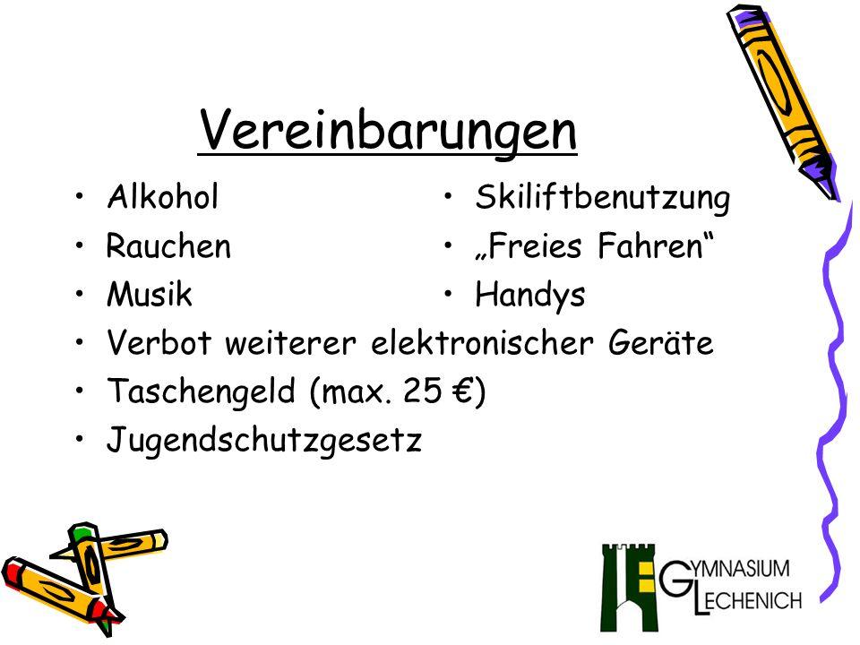 Programm Vorbereitung in den Klassen Sportunterricht Ökologie/Physik Tourismus Videodrehbuch Aktivitäten vor Ort Ausrüstungsfragen Vor Ort Skifahren Snowboardfahren Ausrüstungsfragen Hüttenabend Sportliche Turniere