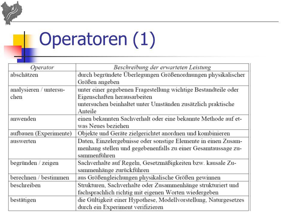 Operatoren (1)