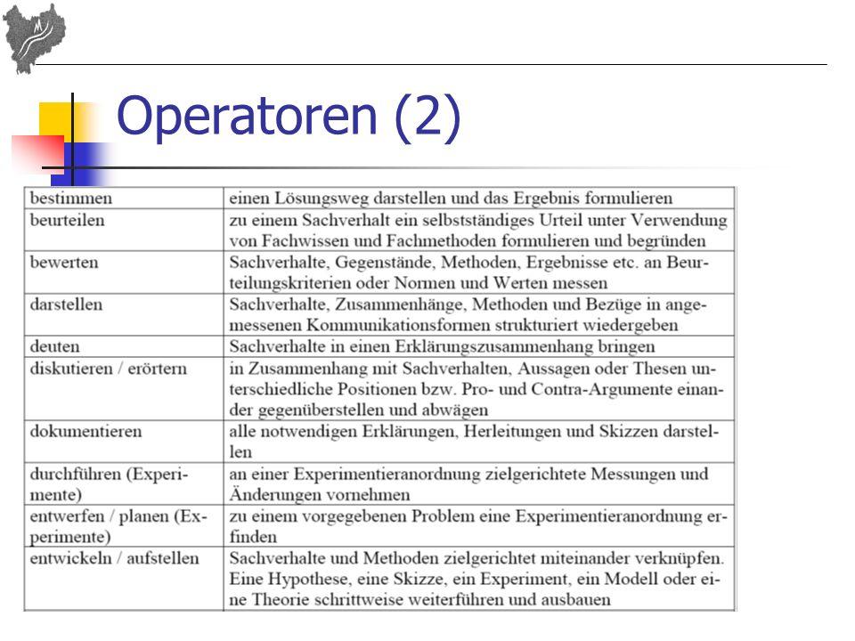 Operatoren (2)