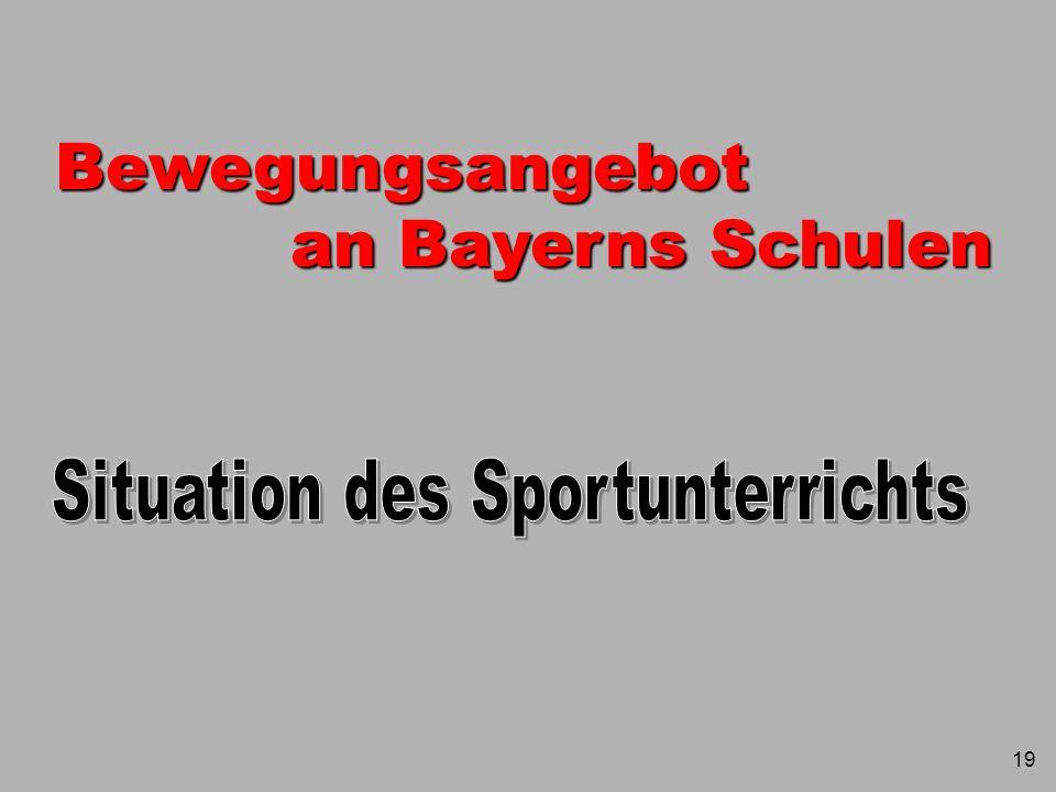 5 Stundentafeln der Gymnasien Bayerns Fach Sport Ewald Wutz