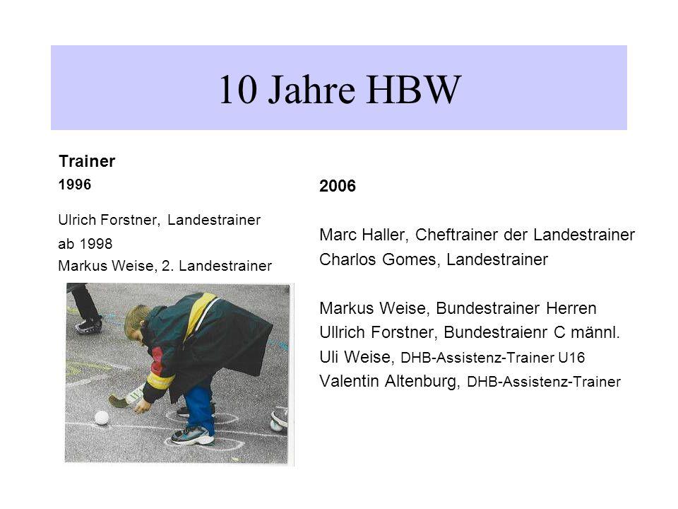 Trainer 1996 Ulrich Forstner, Landestrainer ab 1998 Markus Weise, 2.