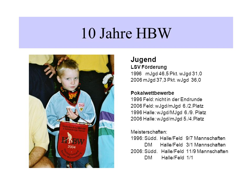 Jugend LSV Förderung 1996mJgd 46,5 Pkt.wJgd 31,0 2006 mJgd 37,3 Pkt.