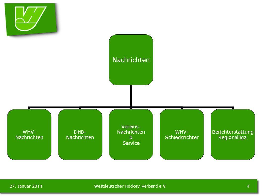 27. Januar 20144Westdeutscher Hockey-Verband e.V.