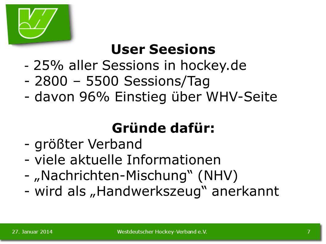 27. Januar 20147Westdeutscher Hockey-Verband e.V.