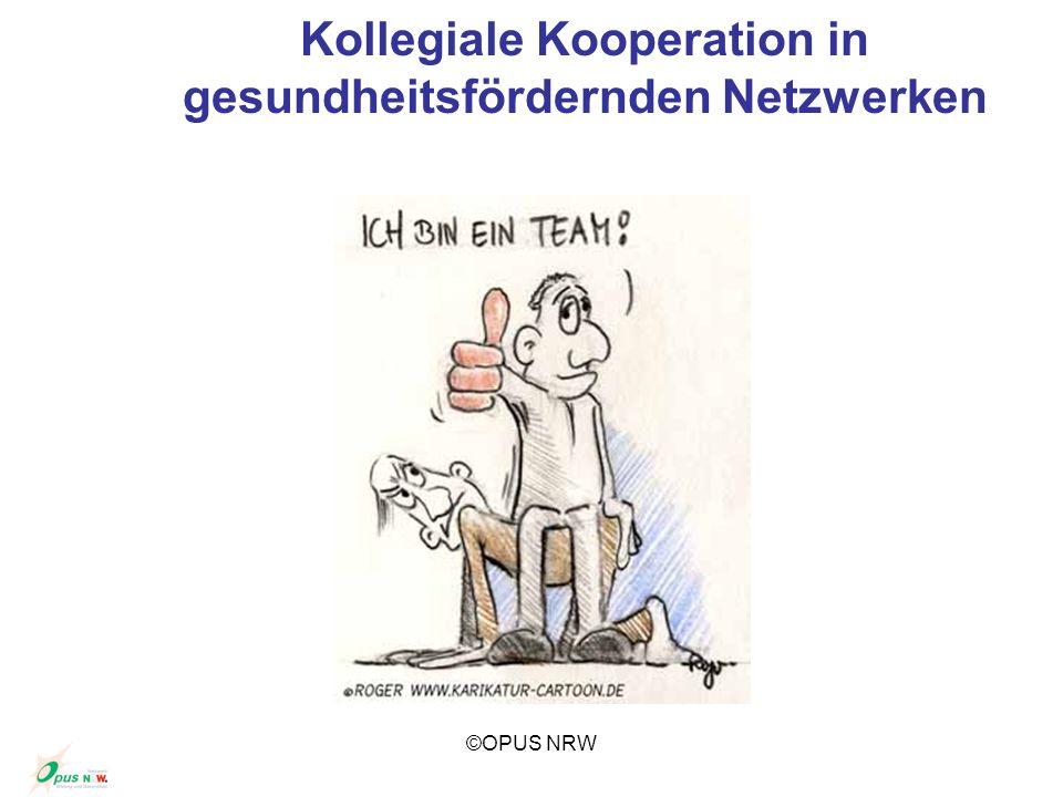 ©OPUS NRW Kollegiale Kooperation in gesundheitsfördernden Netzwerken