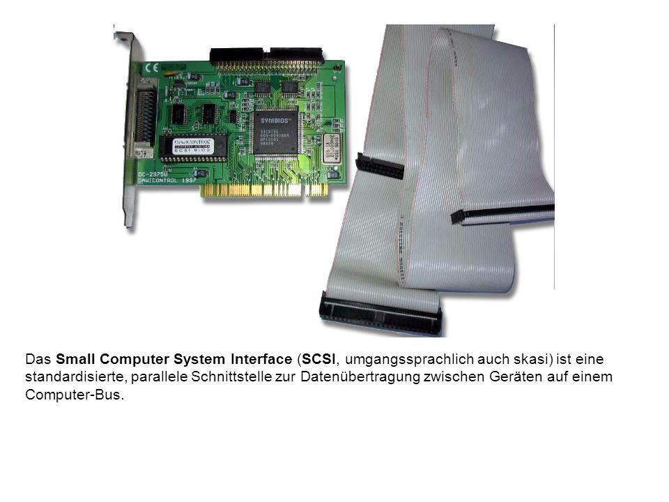 Das Small Computer System Interface (SCSI, umgangssprachlich auch skasi) ist eine standardisierte, parallele Schnittstelle zur Datenübertragung zwisch